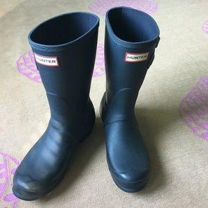 Short Matte Navy Hunter Boots